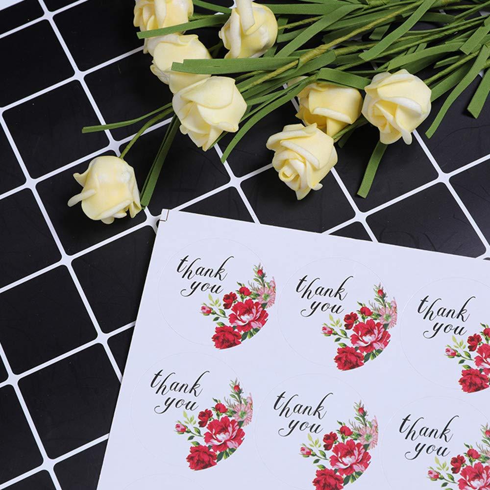 Thank You Goter1200 Etichette adesive Grazie Adesivi Etichetta Adesive Rotonde Thank You Grazie Handmade Sticker Fatti a Mano Sticker