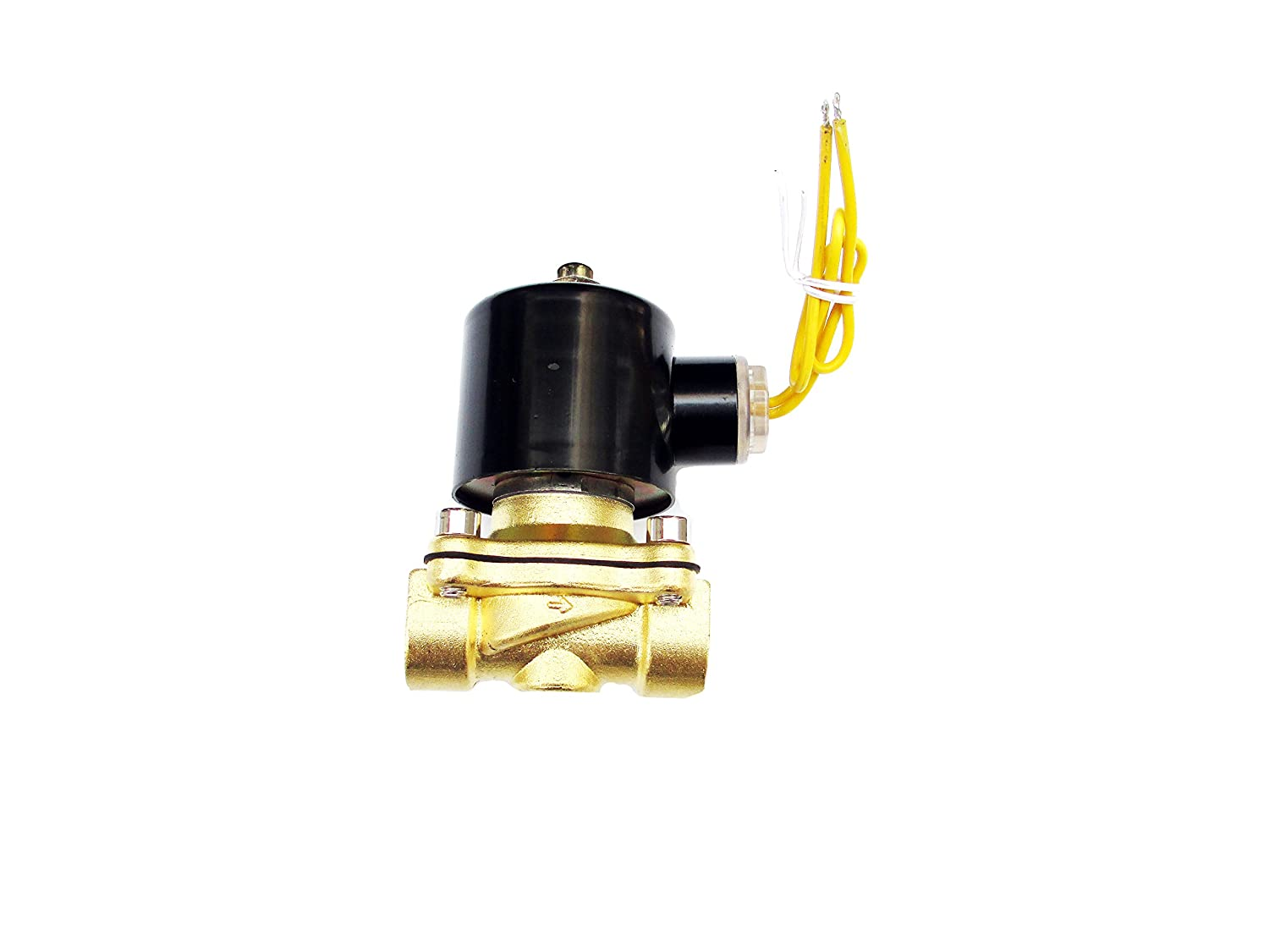 1/2 Solenoid Valve 110v/115v/120v AC Brass Electric Air Water Gas Diesel Normally Closed NPT High Flow