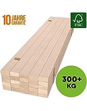 HansaBirke Rollrost 140x200cm - 300 kg 25 Leisten - Hochwertiger Extra starker Rollattenrost aus echtem Birkenholz - FSC Lattenrost unbehandelt - Lattenrollrost Premium