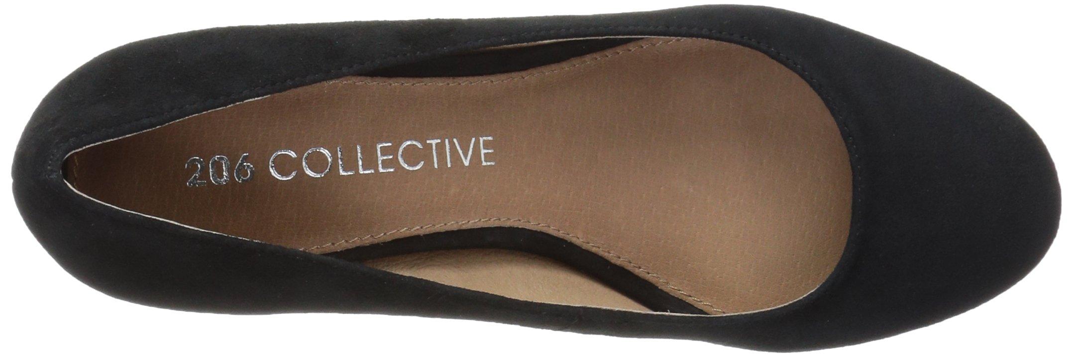 206 Collective Women's Merritt Round Toe Block Heel Low Pump, Black Suede, 7.5 B US by 206 Collective (Image #7)