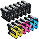 12-Pack IKONG Compatible Ink Cartridge Replacement for Brother LC203 203XL Works with Brother MFC J485DW J480DW J680DW J885DW J880DW MFC J5520DW J5620DW J5720DW J4420DW J4320DW J4620DW Printer