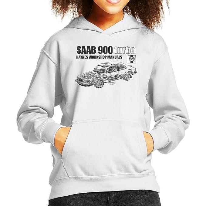 Haynes Workshop Manual 0765 Saab 900 Turbo Black Kids Hooded Sweatshirt