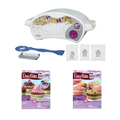 Easy Bake Oven Star Edition + Red Velvet Cupcakes + Chocolate Chip and Sugar Cookies Refill Setl. Set of 3 Items: Toys & Games
