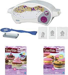 Easy Bake Oven Star Edition + Red Velvet Cupcakes + Chocolate Chip and Sugar Cookies Refill Setl. Set of 3 Items