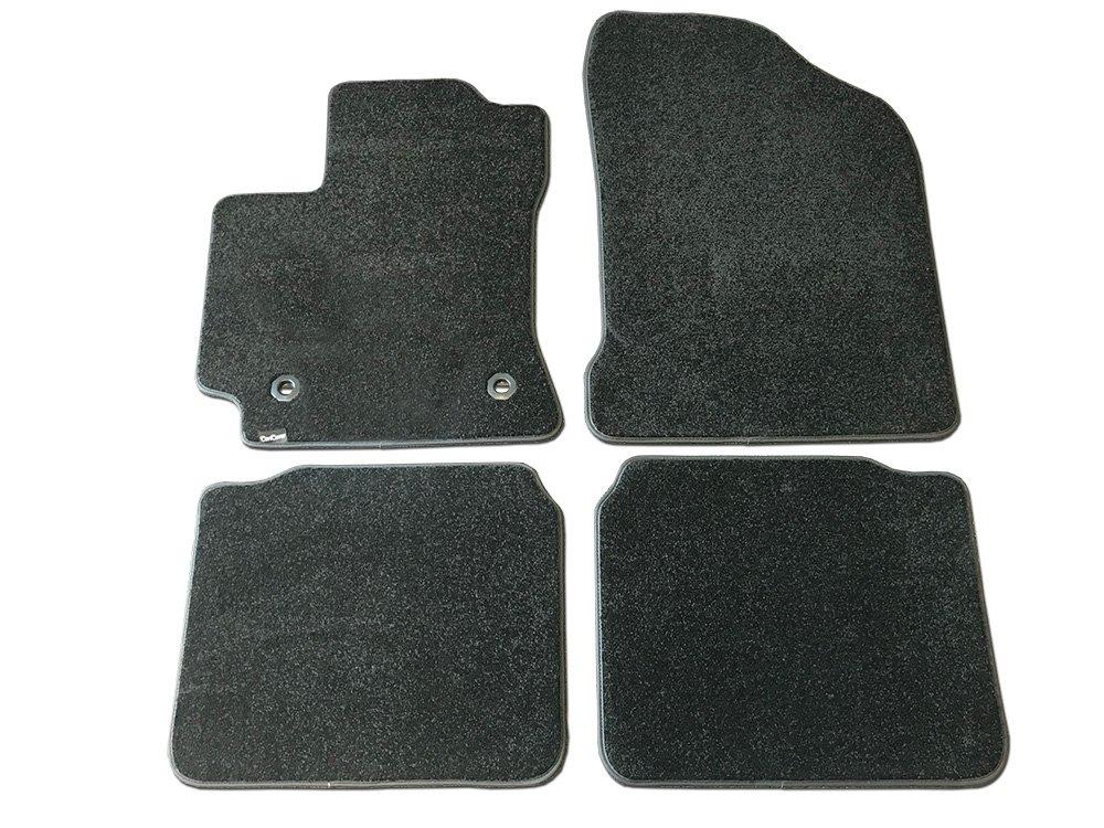 CarsCover Custom Fit 2014-2018 Toyota Corolla Front and Rear Carpet Car Floor Mats Heavy Cushion Ultramax Asphalt Black