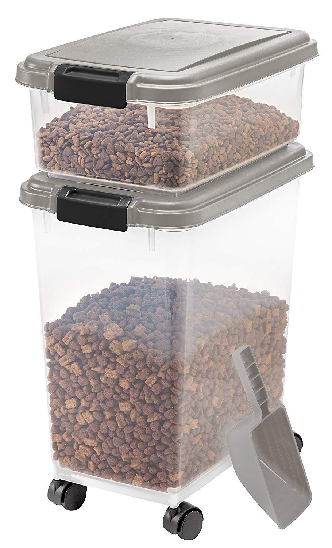 IRIS 3-Piece Airtight Pet Food Container Combo, Pack 2 by IRIS USA, Inc. (Image #3)
