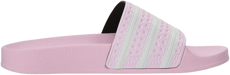 Amazon.com | adidas Originals Girls Adilette J, Aero Pink/White/Aero Pink, 5 M US Big Kid | Sandals