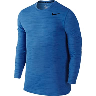f90b6404 Nike Men's Dri-FIT Touch L/S, Blue Lagoon/Game Royal/Heather/Black SM at  Amazon Men's Clothing store: