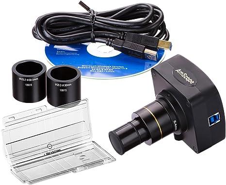 foto y v/ídeo en directo AmScope/C/ámara microsc/ópica digital USB 1,3/mega p/íxeles