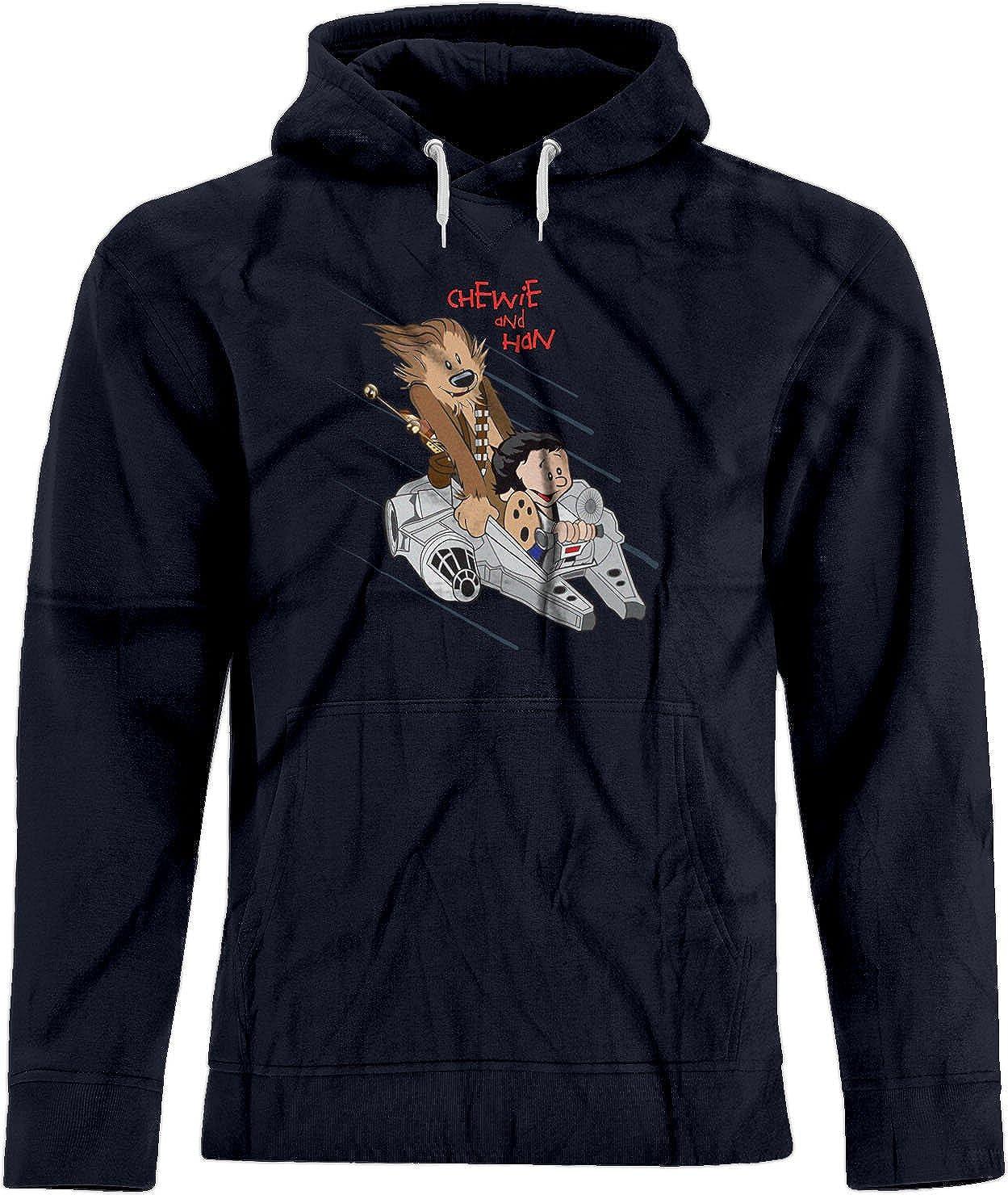 Amazon.com: BSW Unisex Chewie & Han Calvin & Hobbes Falcon Star Wars Premium Hoodie: Clothing