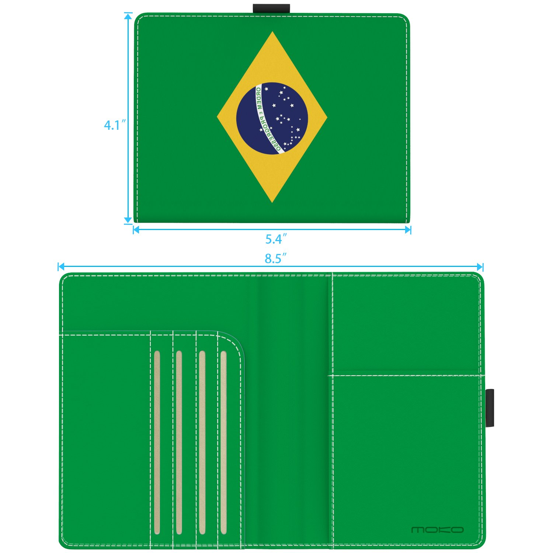 MoKo RFID Bloqueo Billetera Rosa Gris M/ármol Carteras Funda de Pasaporte Tarjetas de Cr/édito Cubierta Multiuso de Cuero Imitado