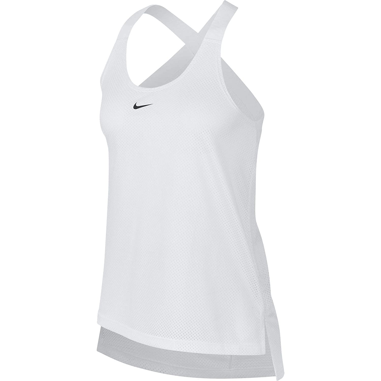 size 40 87f9b a6819 Nike 930395-100 Débardeur Femme, Blanc (Noir), FR (Taille Fabricant   XS)   Amazon.fr  Sports et Loisirs