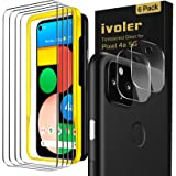 [6 Pack] iVoler [4 Pack]Tempered Screen Protector+[2 Pack]Camera Lens Protector Tempered Glass for Google Pixel 4a 5G with [A