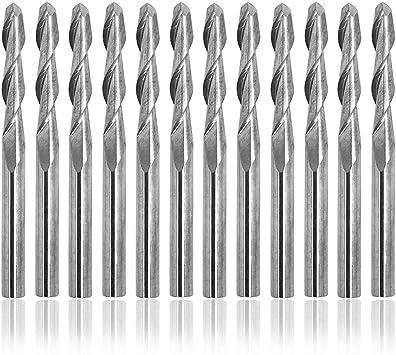 """10pcs 3.175mm 1//8/"""" Shank 2 Flute Ball nose End Mill Cutter CNC Bit"""