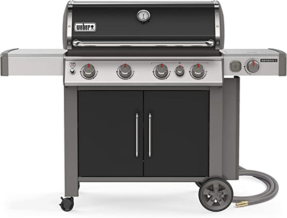 Weber Genesis II E-435 4-Burner Natural Gas Grill - GS4 Grilling System + Natural Gas Power
