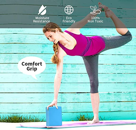 Amazon.com: Bloque de yoga (2 unidades) - Bloque de espuma ...