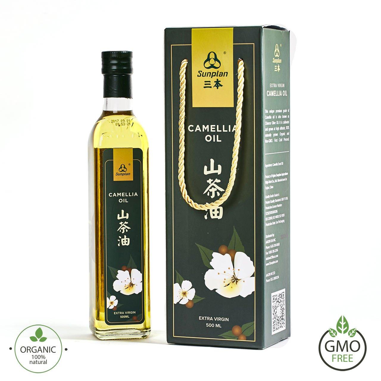 Sunplan Camellia Tea Seed Oil Organic Extra Virgin Cooking Oil (500ml with Gift Box)