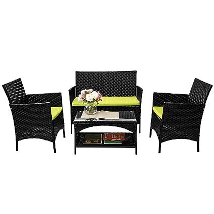 Amazon.com: Merax - Juego de muebles de jardín de ...
