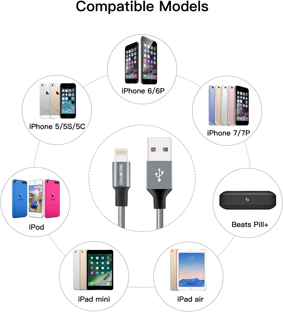 ENACFIRE Lightning Cable iPhone 6