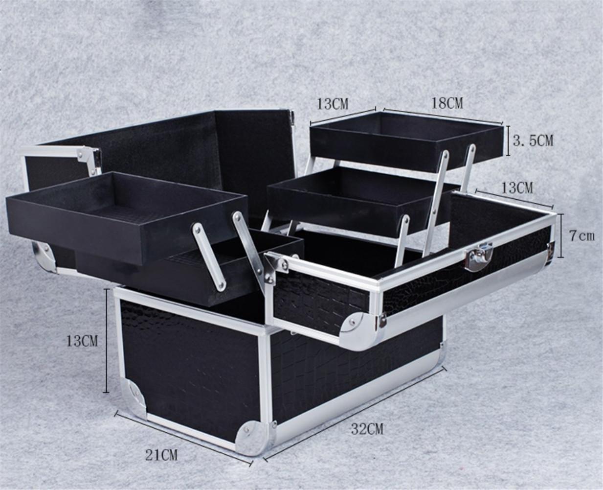 HAPPYMOOD 化粧ポーチメイクボックス化粧品ケースメイクアップスーツケース専門的なロック可能なストレージ女性旅行   B078S7M65Y
