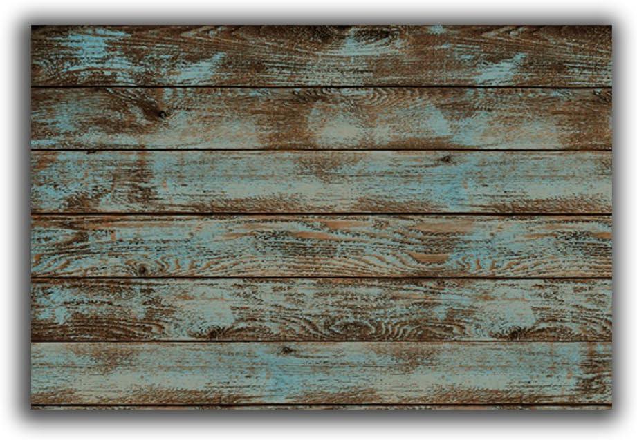 Vandarllin Rustic Old Barn Wood Doormats Indoor/Outdoor Home Decor Welcome Mat Rug Carpet - 18