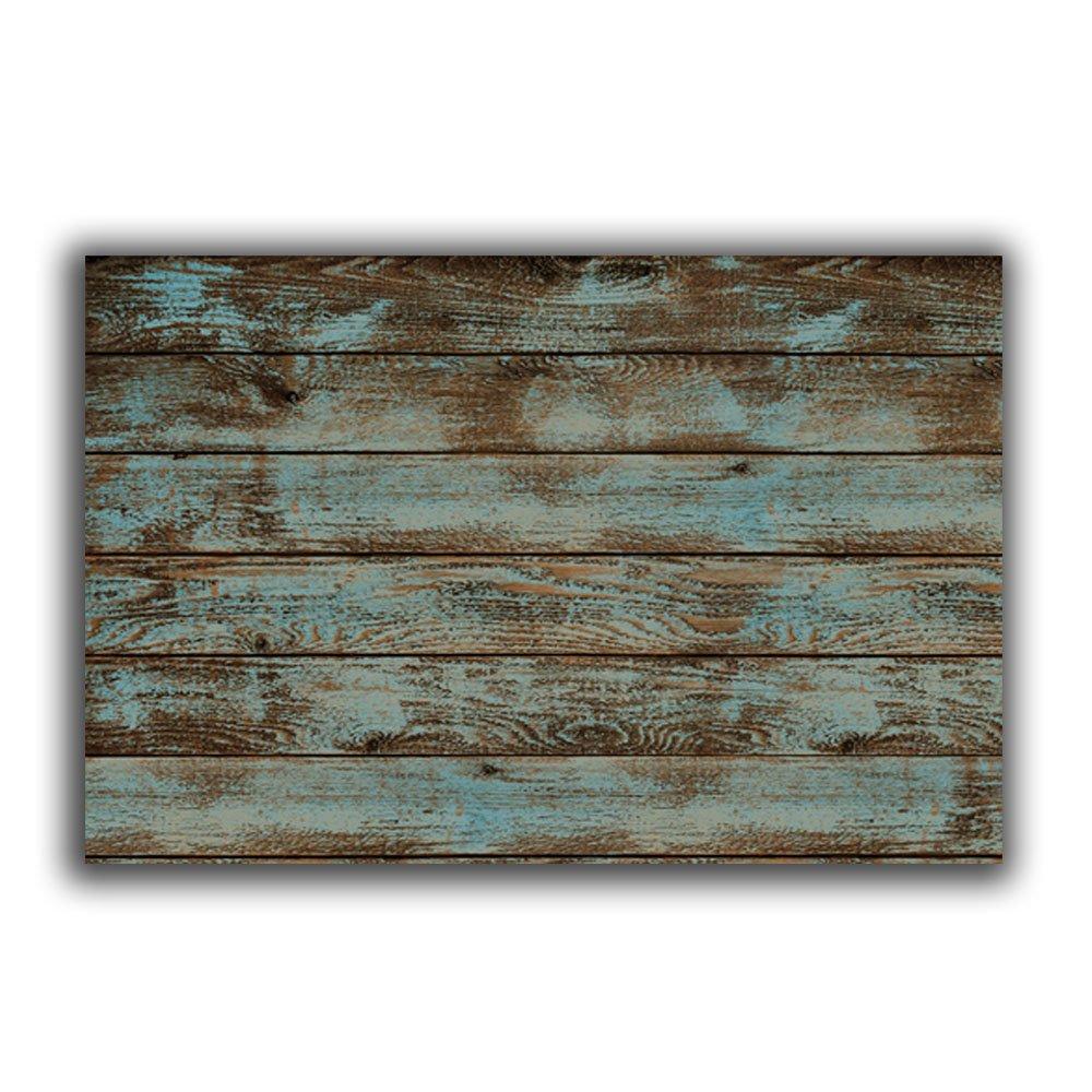Rustic Old Barn Wood Doormats Indoor/Outdoor Home Decor Welcome Mat Rug Carpet - 23.6''(L) x 15.7''(W)