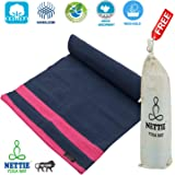 NETTIE Handloom Cotton Indian Yoga Mat with Carry Bag
