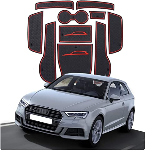 CDEFG para Audi A3 8V Coche Accesorios Antideslizante Copa Mats Anti Slip Puerta Ranura de Acceso Kit de la Estera del coj/ín de la Ranura decoraci/ón de Interiores