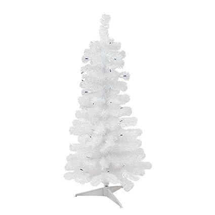 3 Pre Lit Christmas Tree.Northlight 3 Pre Lit White Pine Slim Artificial Christmas Tree Blue Lights