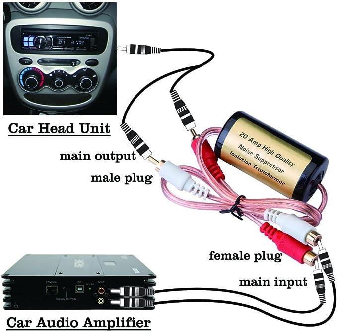 Mr Ho 20 Amp Rca Entstörfilter Kfz Massefilter Elektronik