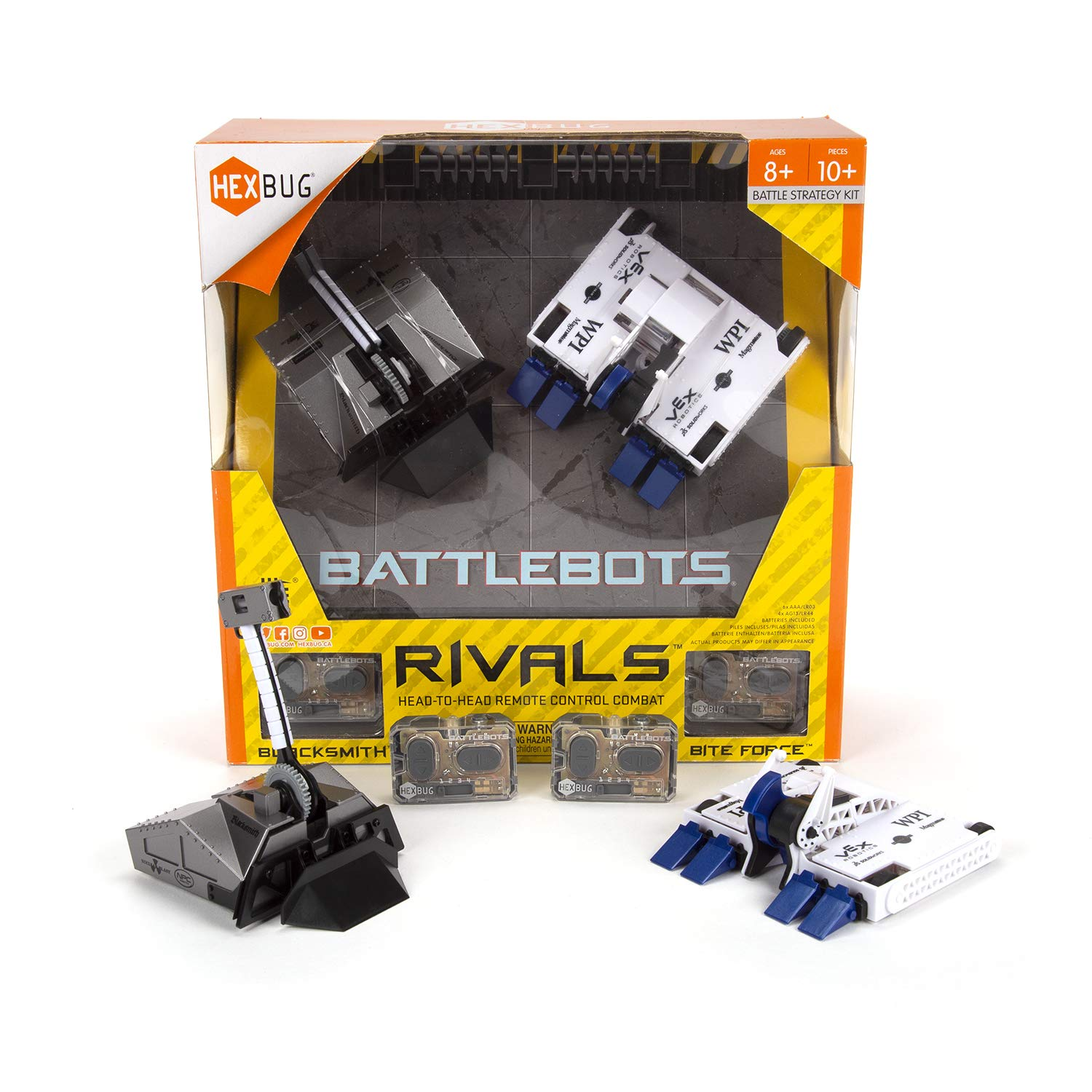 HEXBUG BattleBots Rivals 4.0 (Blacksmith and Biteforce) Toys for Kids, Fun Battle Bot Hex Bugs Black Smith and Bite Force by HEXBUG (Image #2)