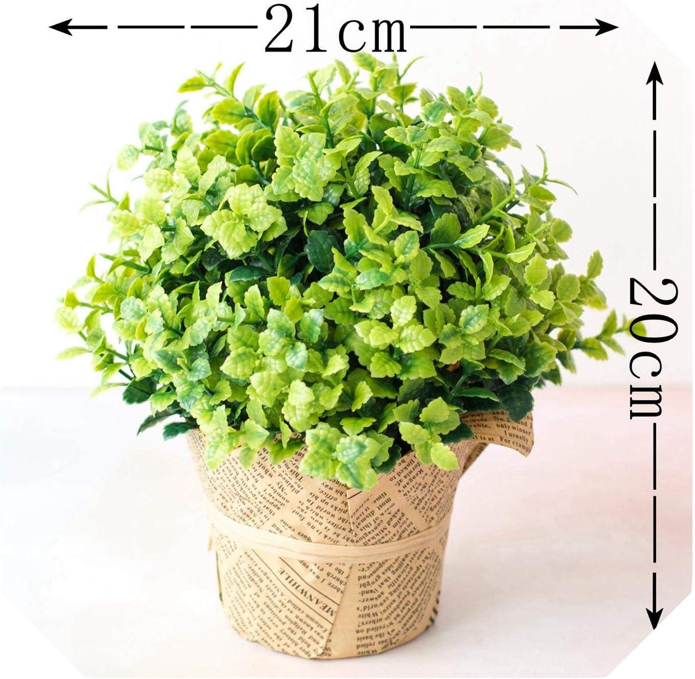Amazon Com Artificial Plant Bonsai Decorative Simulation Plastic Small Mini Potted Bonsai Green Plant Wedding Home Decor Hotel Garden Decor Bo He Cao Green Home Kitchen