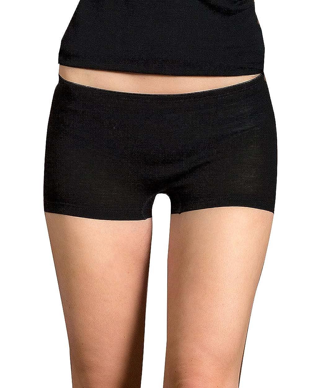 Engel Pantaloncini da donna, 70% lana merino organica, 30% seta, colore: naturale 701340