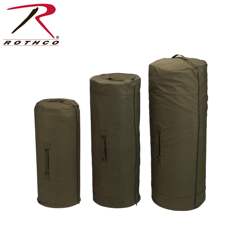 Rothco Canvas Zipper Duffle Bag, Olive Drab, 30'' x 50''