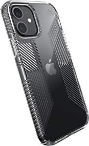 Speck Products Presidio Perfect-Clear Grip iPhone 12, iPhone 12 Pro Case, Clear/Clear