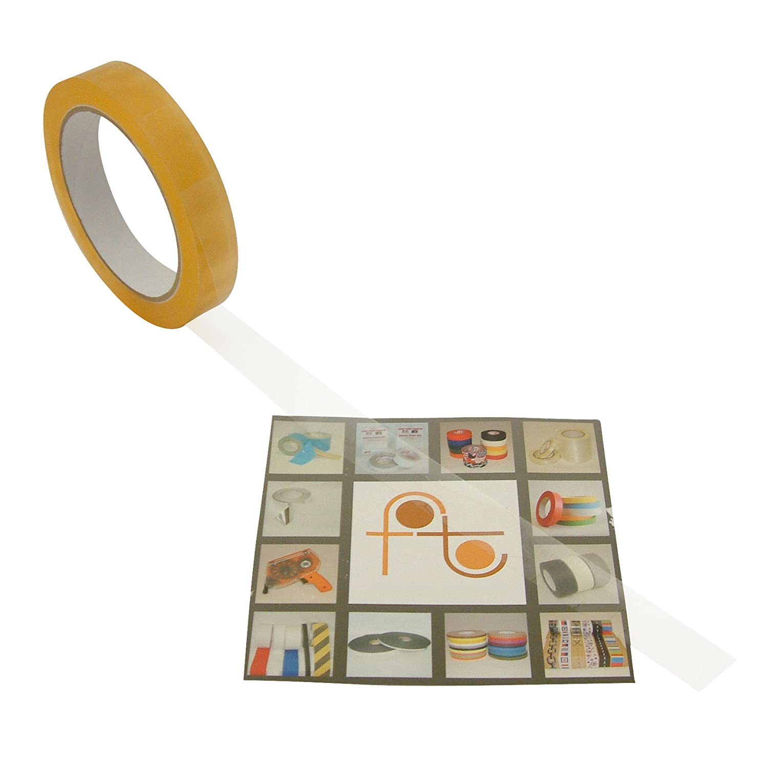 "J.V. Converting CELLO-1/CLR07572 JVCC CELLO-1 Cellophane Sealing Tape (Biodegradable): 3/4"" x 72 yd., Clear"