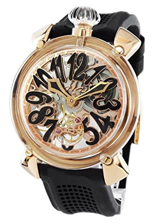 huge selection of 3c97b 8421d Amazon   ガガミラノ マヌアーレ48MM クリスタル 腕時計 メンズ ...