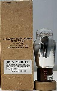 VT25 10 RCA NOS Nib Radiotron Leaf Getter Made in U.S.A Amplitrex Tested #395006