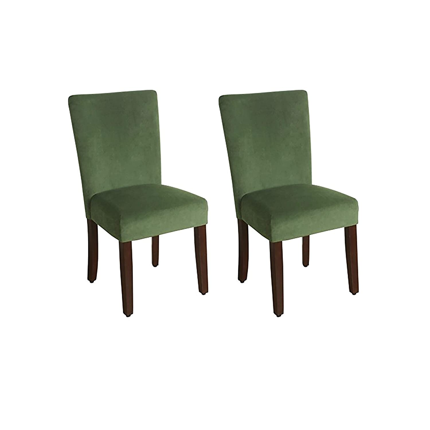 Dark Green Set of 2 HomePop Parsons Classic Upholstered Accent Dining Chair, Set of 2, Navy and Cream Geometric