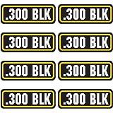 AZ House of Graphics 300 BLK Ammo Sticker 8 Pack
