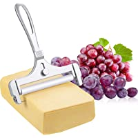 Stainless Steel Wire Cheese Slicer Adjustable Thickness Cheese Cutter for Soft, Semi-Hard Cheeses Kitchen Cooking Tool