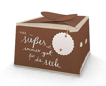 6 Wunderschöne Und Lustige Kuchenboxen Schoko Was Süßes Ist Immer Gut Für Die Seele Für Kuchenstücke Hochzeitstorte Muffins Cupcakes Mit