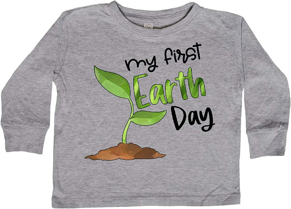 inktastic My 1st Earth Day Sprouting Plant Toddler Long Sleeve T-Shirt