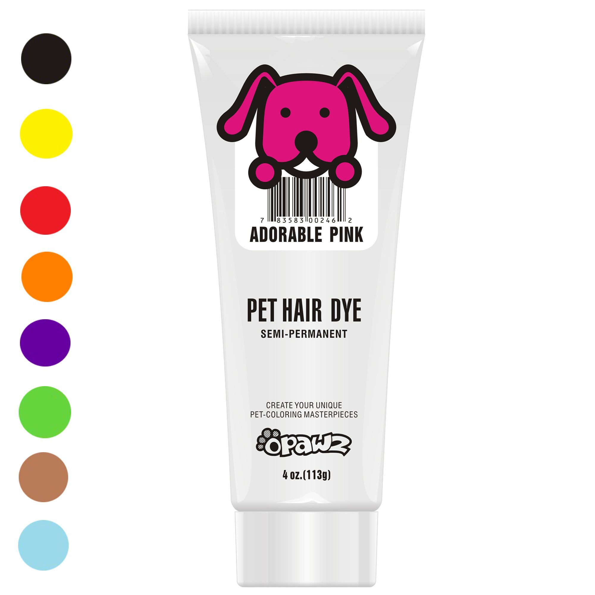 Owpawz DOG HAIR DYE GEL - New Bright, Fun Shade, Semi-permanent, completely non-toxic and safe (PINK)