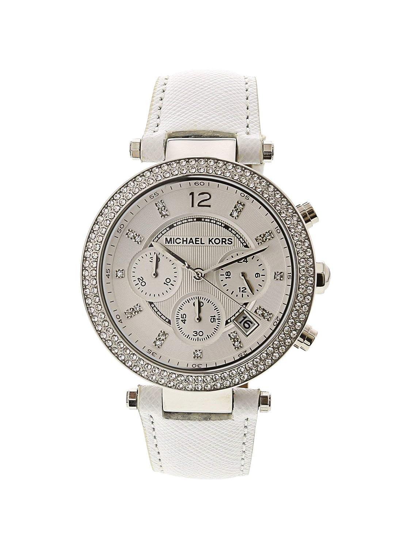 252f875b5693 Amazon.com  Michael Kors Women s Chronograph Parker White Leather Strap  Watch 39mm Mk2277  Michael Kors  Watches