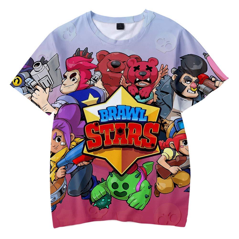 Camiseta Ocio De Verano Impresi/óN 3D Patr/óN De Juego Ni/ñO Adulto Cuello Redondo Manga Corta