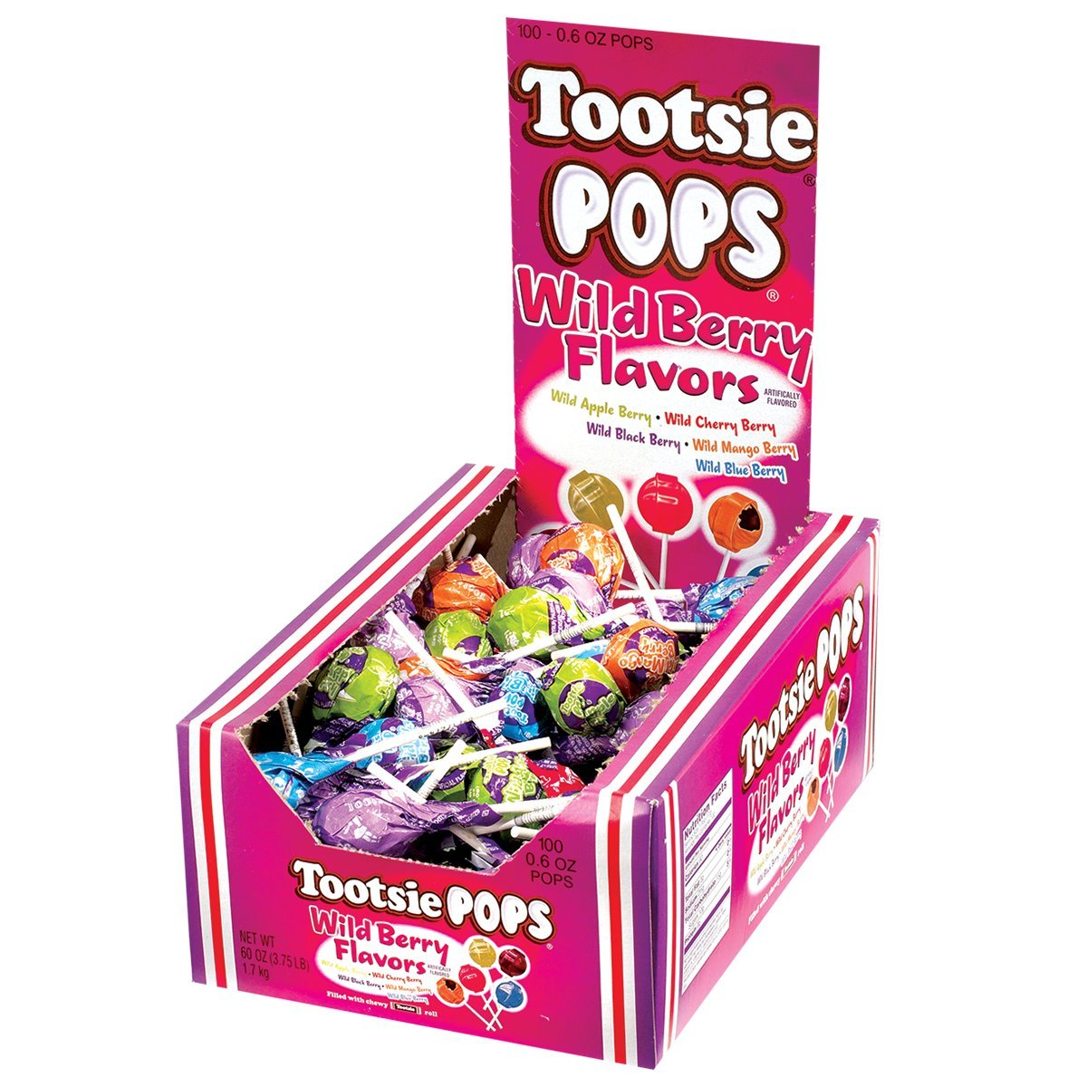 Tootsie Pops Wild Berry Flavors, 3.75 Pounds by Tootsie Roll (Image #2)