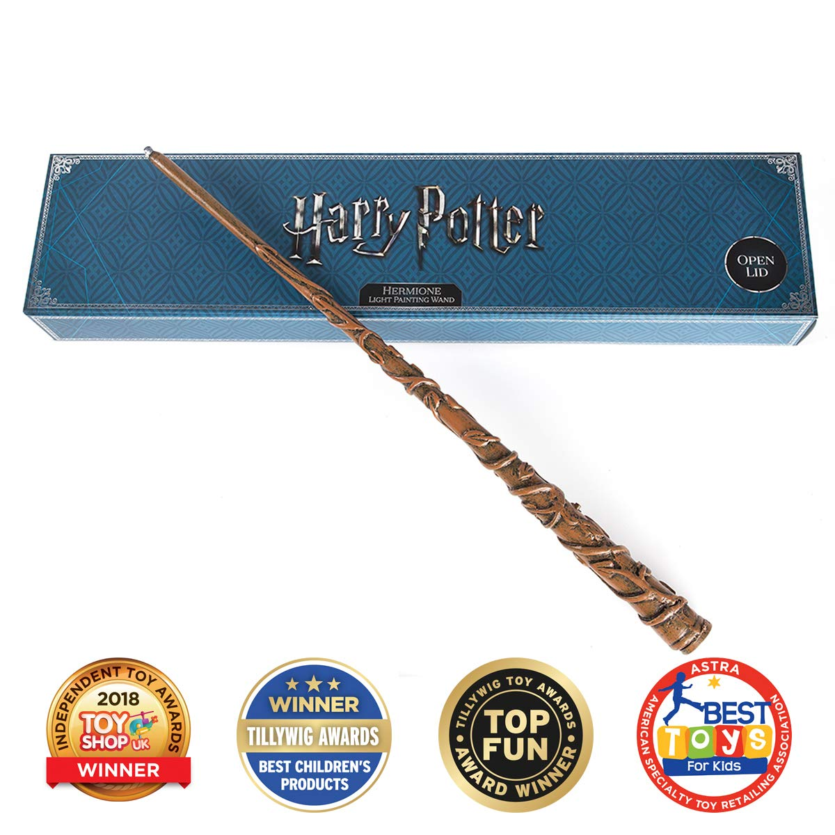 Wow! Stuff Collection – Baguette Magique de Hermione dans Harry Potter, Peinte et illuminée