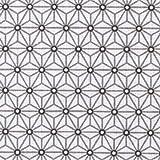 Tissu coton cretonne étoiles asanoha - Blanc & gris