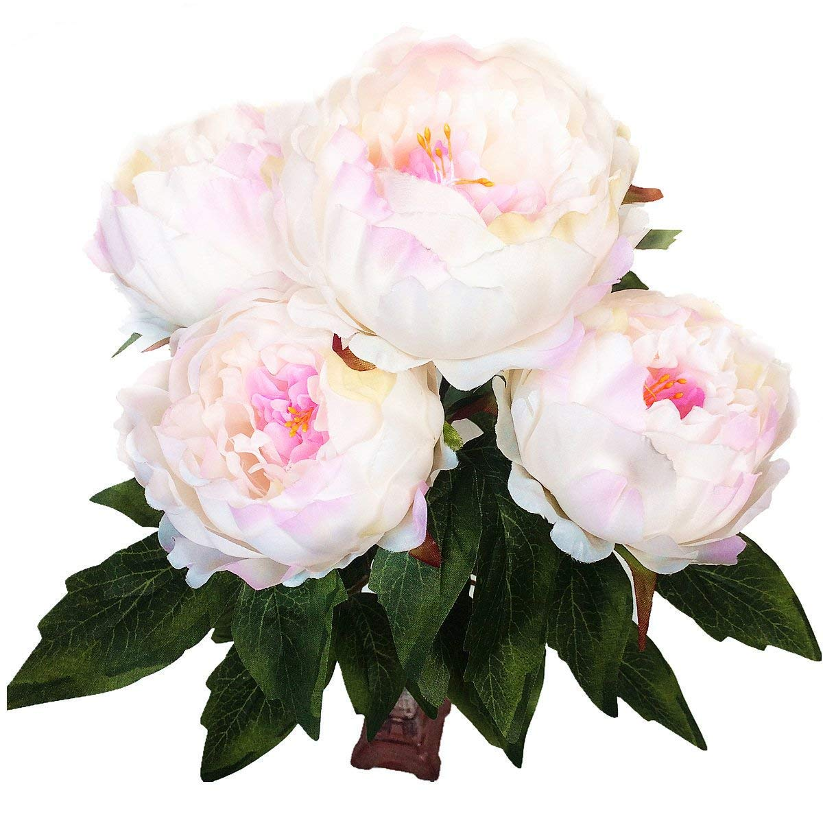 Amazon Hovebeaty Artificial Peony Silk Flowers Bouquet Home